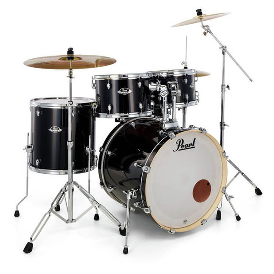 pearl exx export exx705n c complete fusion drum kit jet black rich tone music. Black Bedroom Furniture Sets. Home Design Ideas