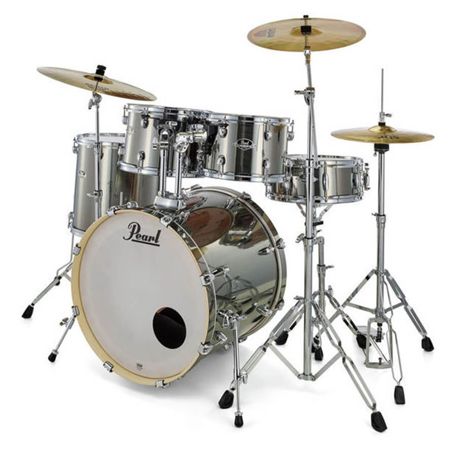 pearl exx export exx725f c complete fusion drum kit smokey chrome rich tone music. Black Bedroom Furniture Sets. Home Design Ideas