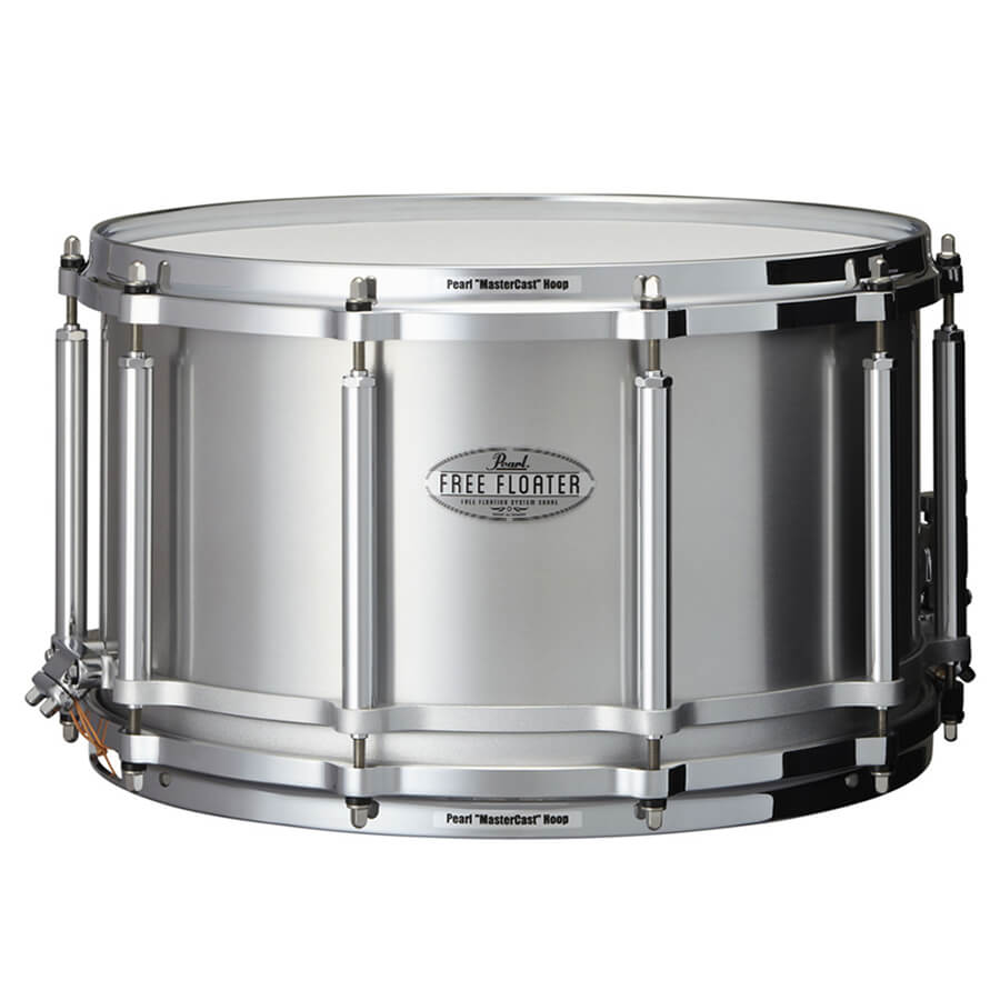 pearl ftal1480 free floating 14x8 inch snare drum seamless aluminium rich tone music. Black Bedroom Furniture Sets. Home Design Ideas