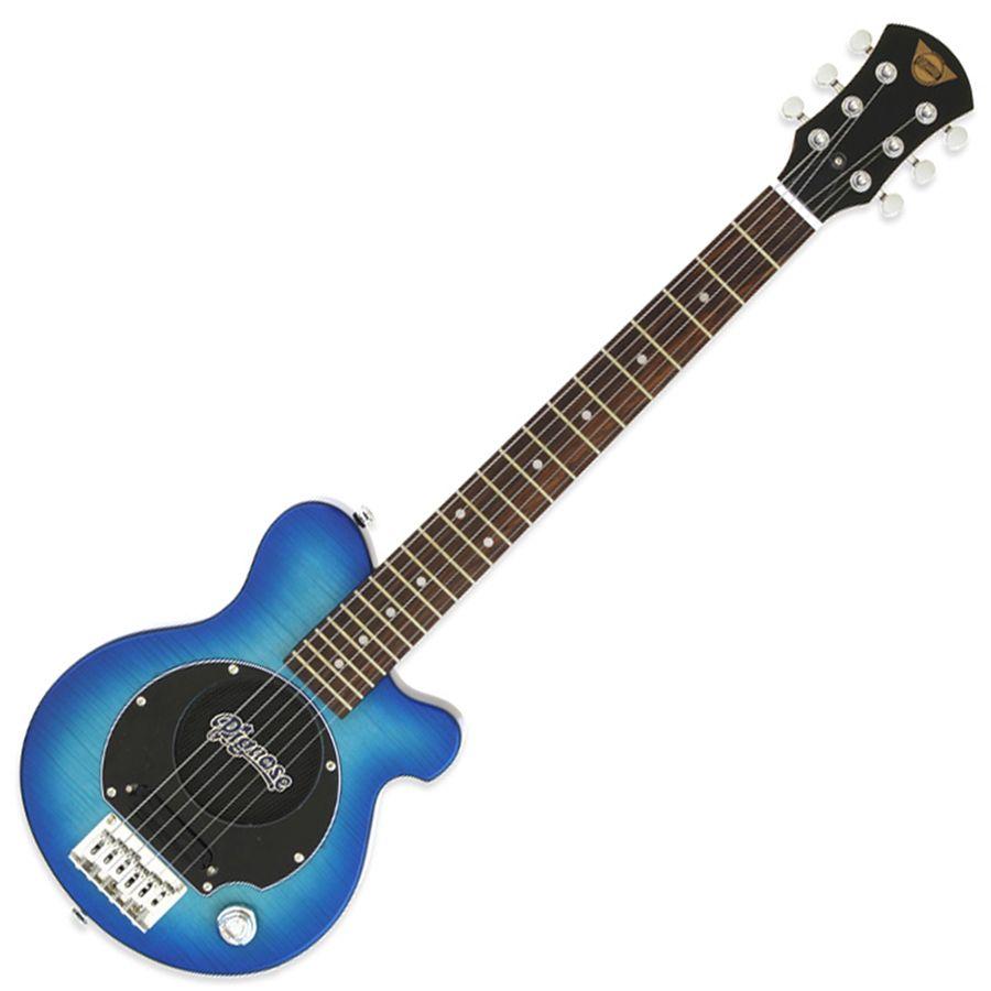 Pignose PGG-200FM Mini Guitar w/ Built-in Amp - See-Through Blue
