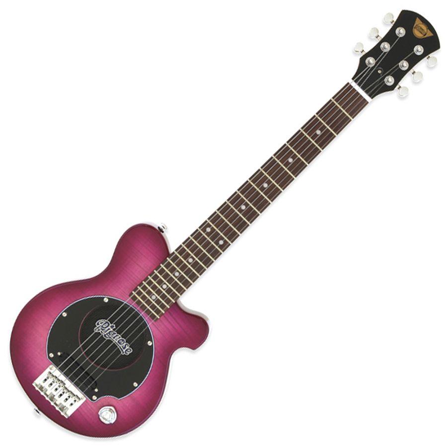 Pignose PGG-200FM Mini Guitar w/ Built-in Amp - See-Through Purple