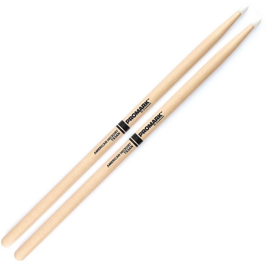 ProMark Hickory 5A Nylon Tip Drum Sticks