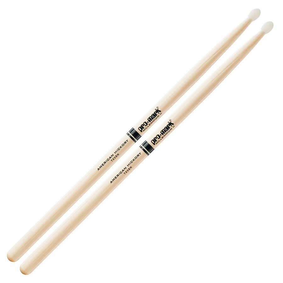 ProMark Hickory 5B Nylon Tip Drum Sticks