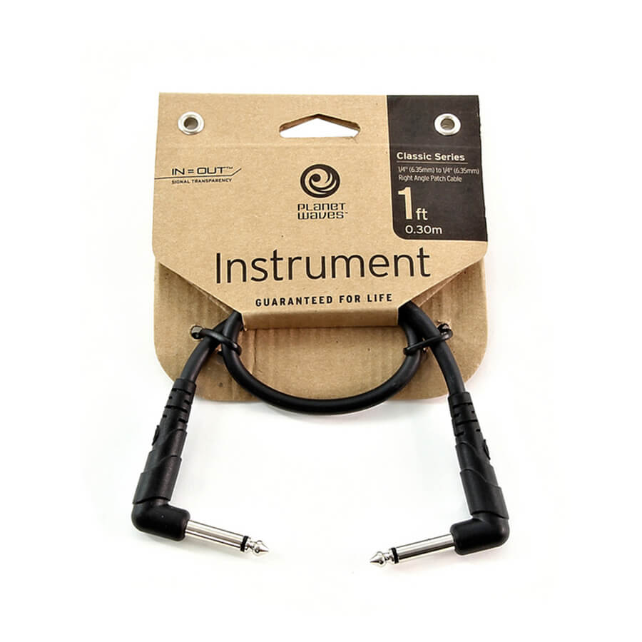 Planet Waves Classic Series Patch Cable - Right-Angle - 1 Foot