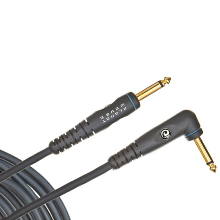 Planet Waves Custom Series Instrument Cable -  Right Angle - 10 feet