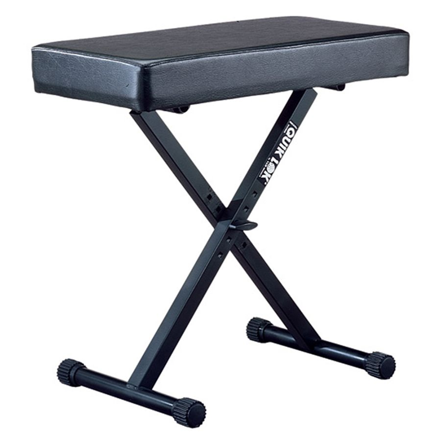 Quiklok BX-14 Large Keyboard Bench with Extra Thick Cushion