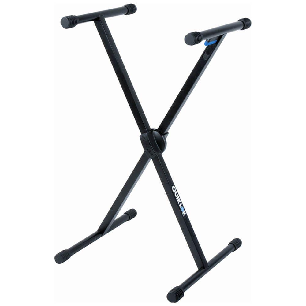Quiklok T500 Single Brace Single Tier X Frame Trigger-Lok Keyboard Stand