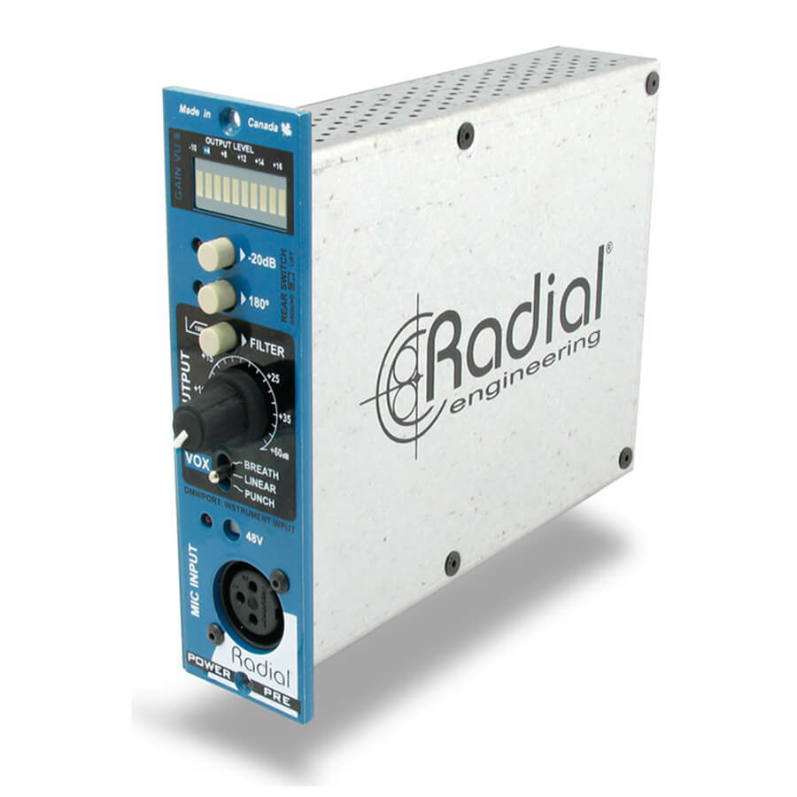 Radial Workhorse PowerPre 500 Mic Preamplifier - 500 Series