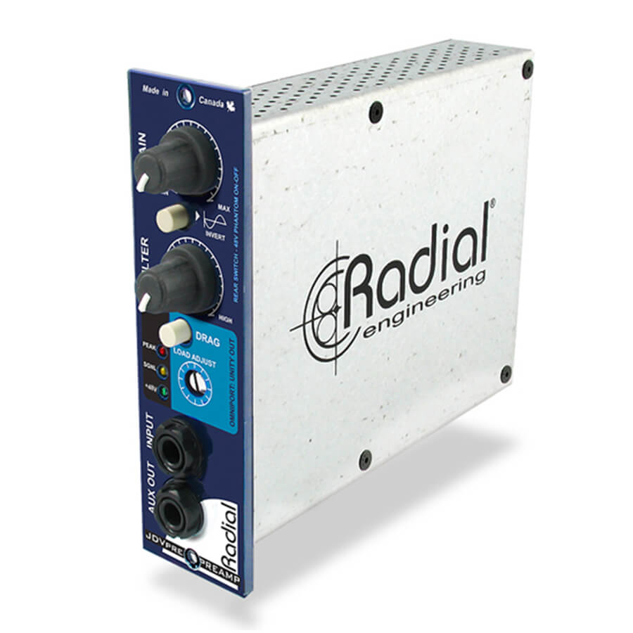 Radial Workhorse JDV-Pre Instrument Preamp and DI - 500 Series