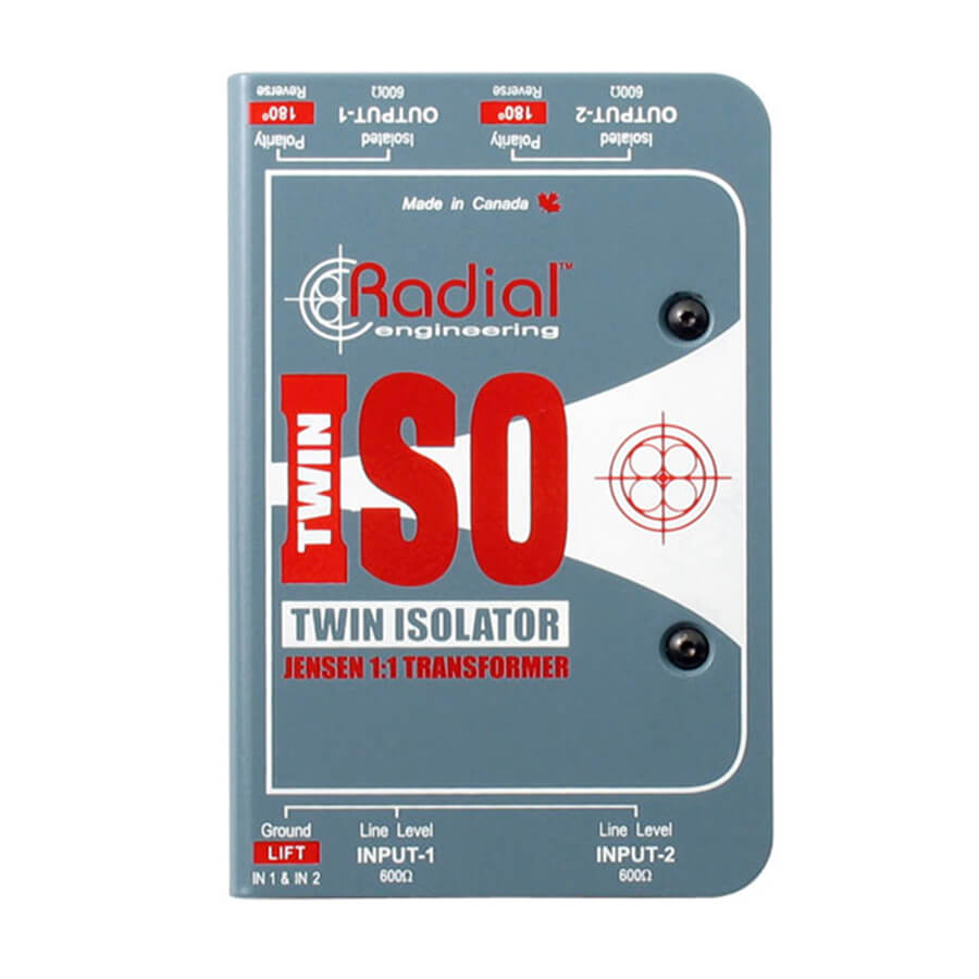 Radial Twin-Iso 2-Channel +4dB line isolator