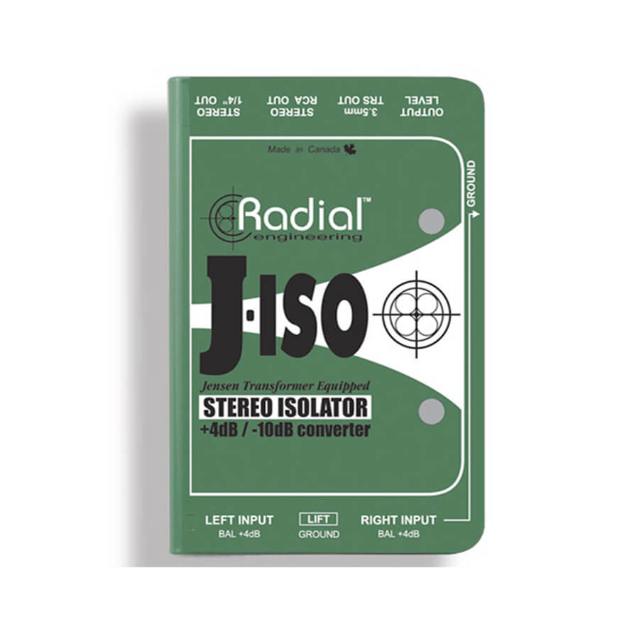 Radial J-Iso Stereo +4dB to -10dB interface