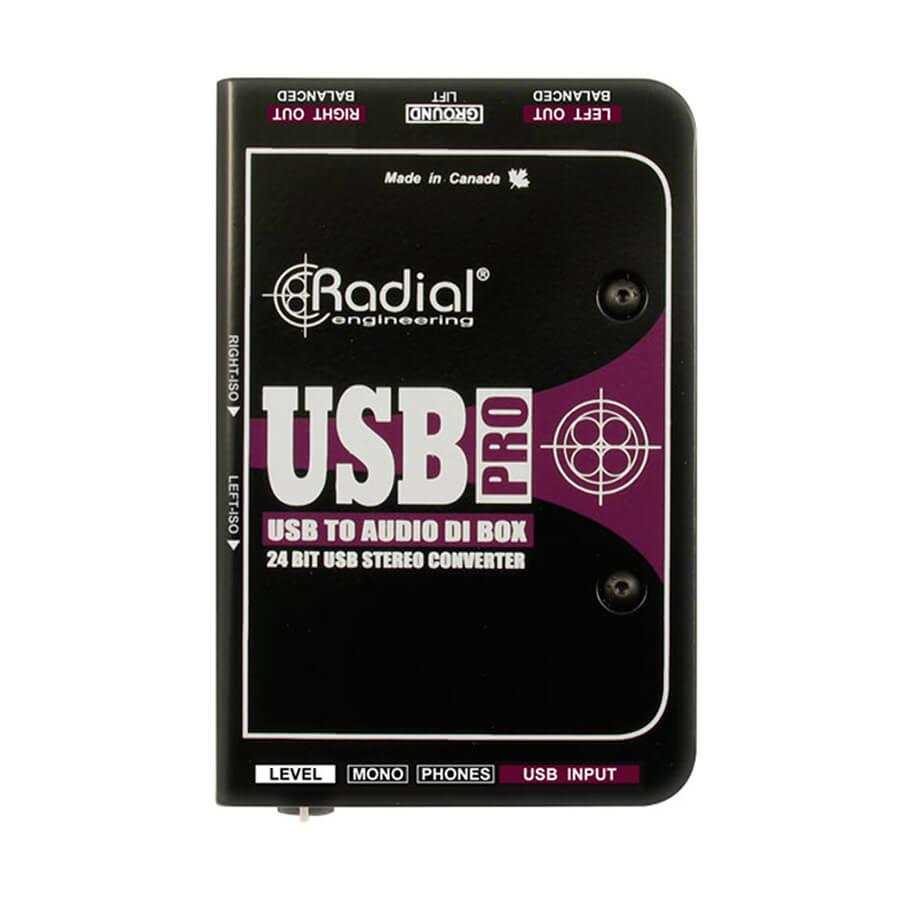 Radial Engineering USB Pro Stereo USB Laptop DI line isolator