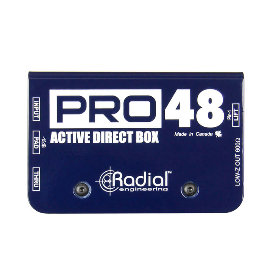 Radial Engineering Pro48 Phantom powered active direct box