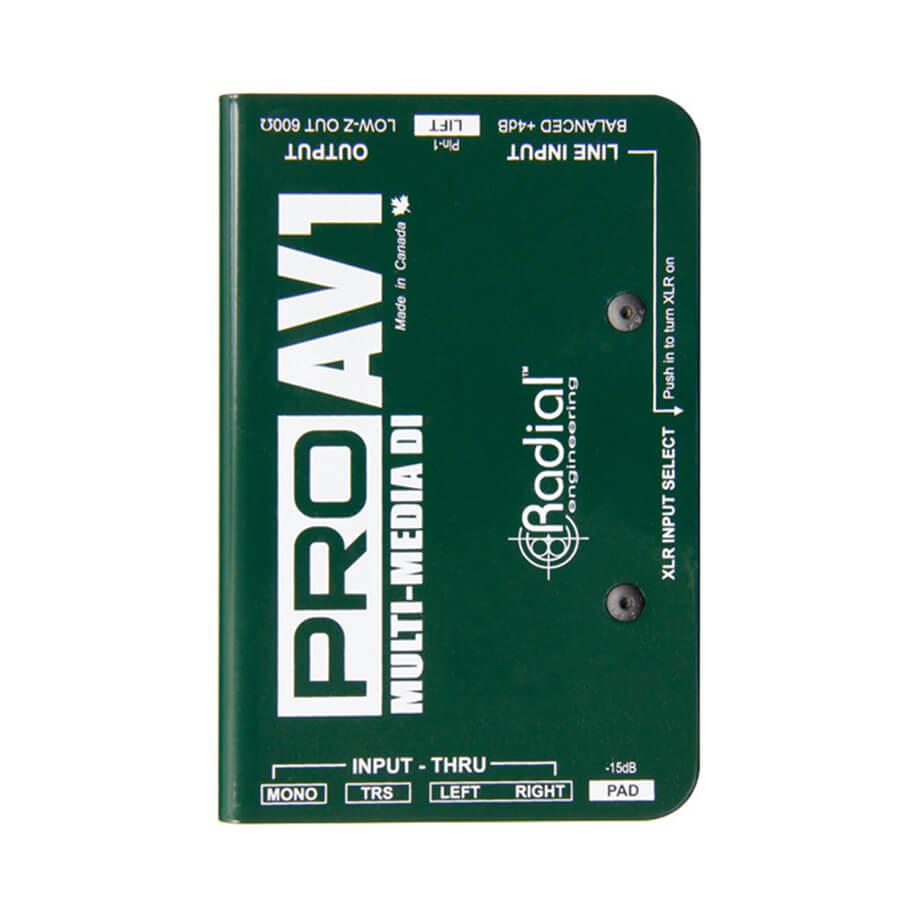 Radial ProAV1 Passive multimedia direct box - mono