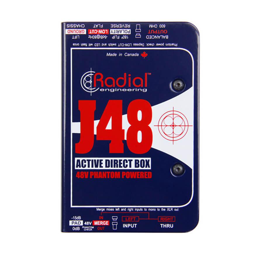 Radial Engineering J48 Active phantom powered direct box - mono