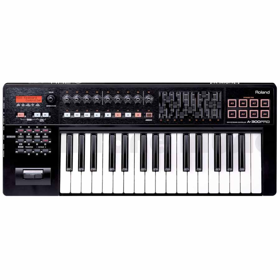 roland a 300pro compact 32 key midi keyboard controller rich tone music. Black Bedroom Furniture Sets. Home Design Ideas