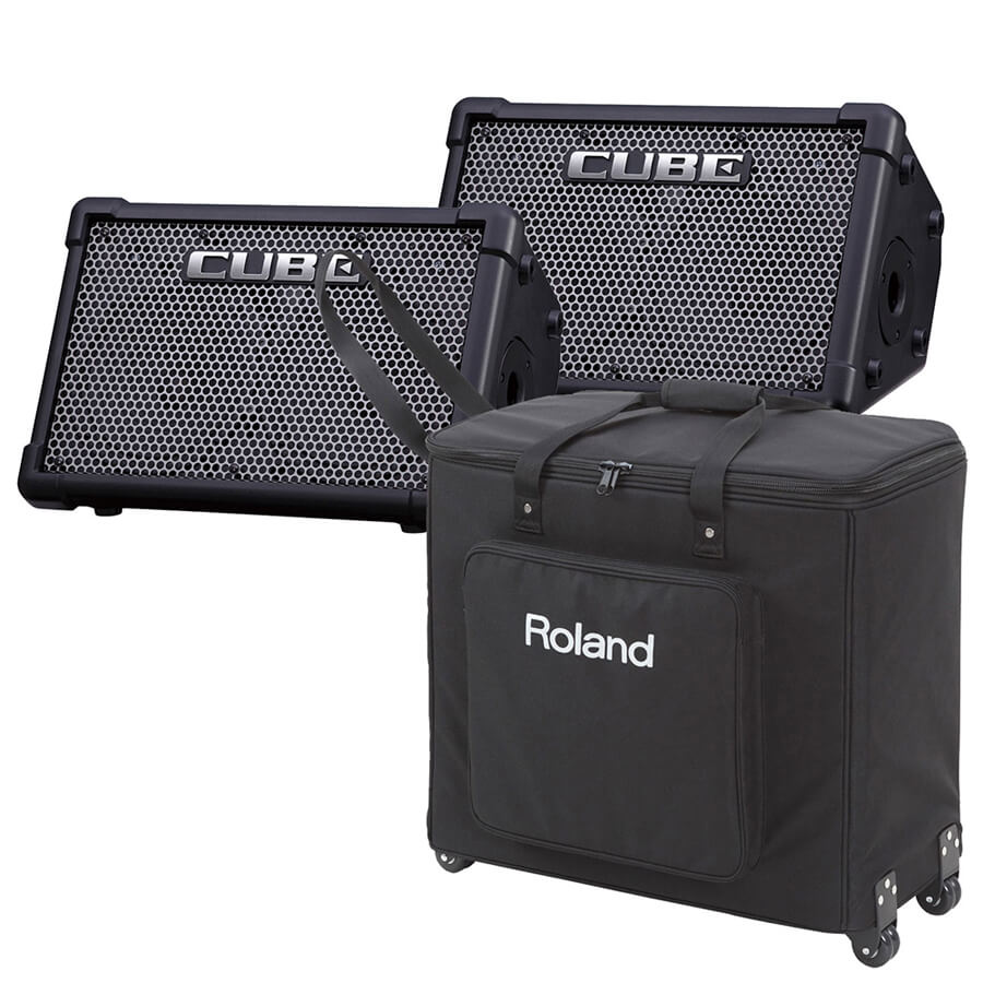 roland cube expa street amplifier small pa package rich tone music. Black Bedroom Furniture Sets. Home Design Ideas