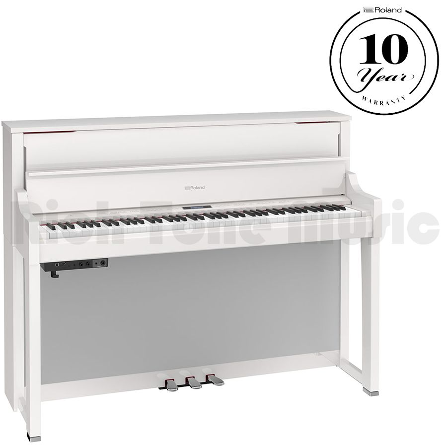 roland lx 17 digital piano polished white rich tone music. Black Bedroom Furniture Sets. Home Design Ideas