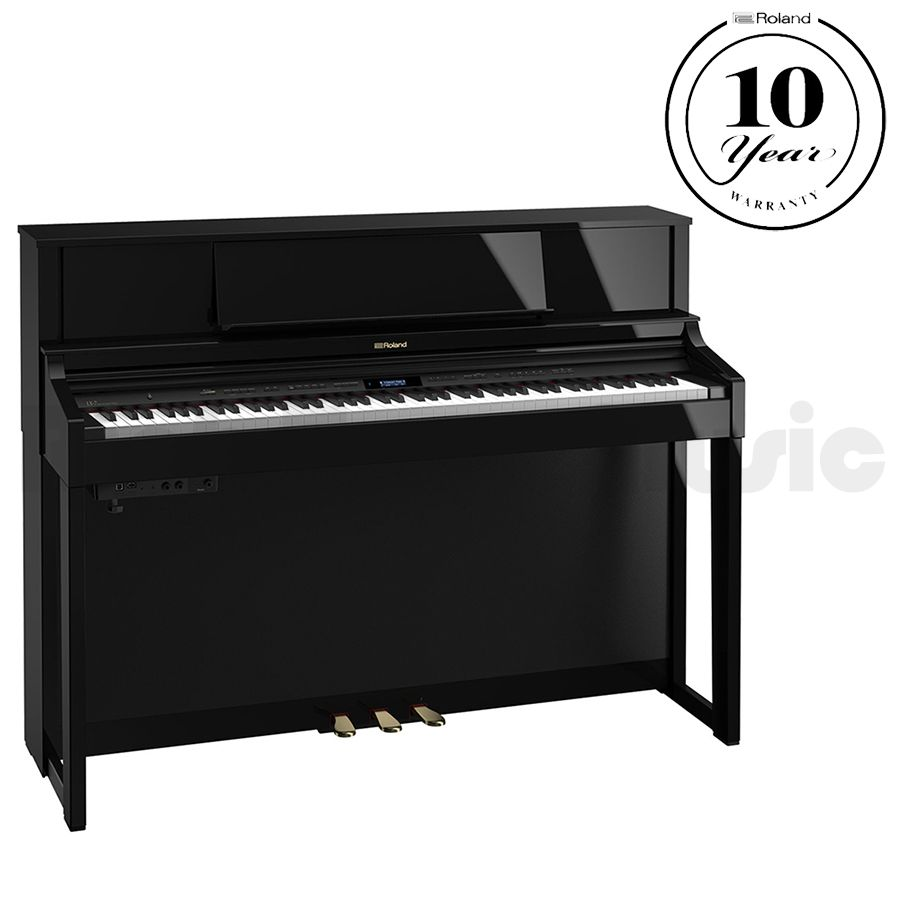 roland lx 7 digital piano polished ebony rich tone music. Black Bedroom Furniture Sets. Home Design Ideas