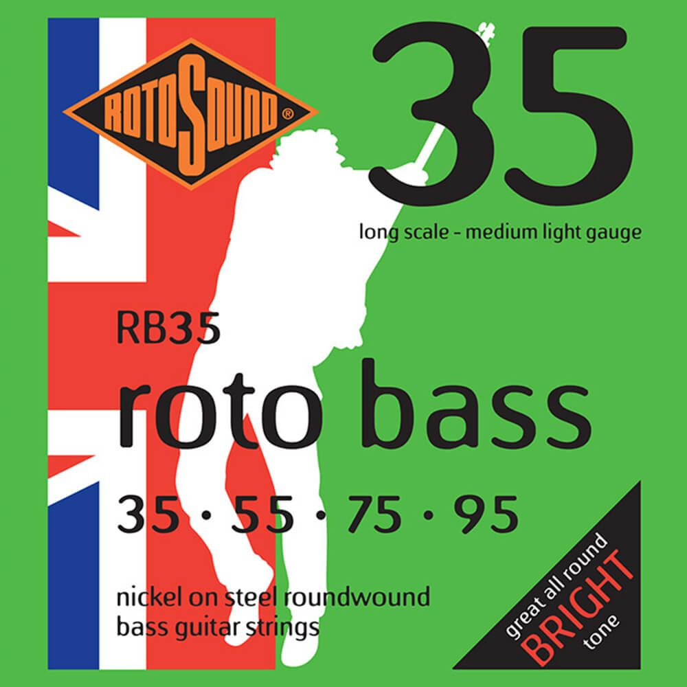 Rotosound RB35 Roto Bass 4-Strings, Nickel, 35-95