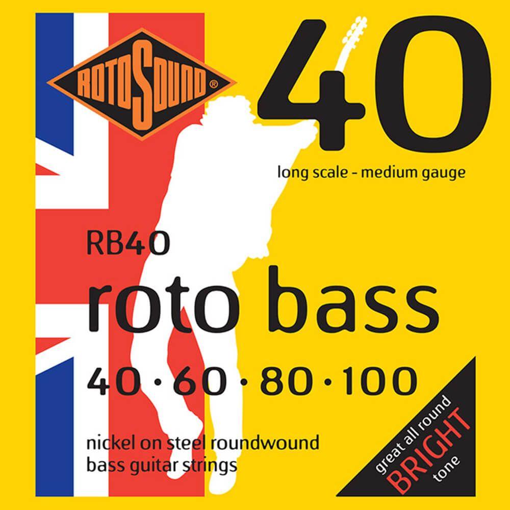 Rotosound RB40 Roto Bass 4-Strings, Nickel, 40-100