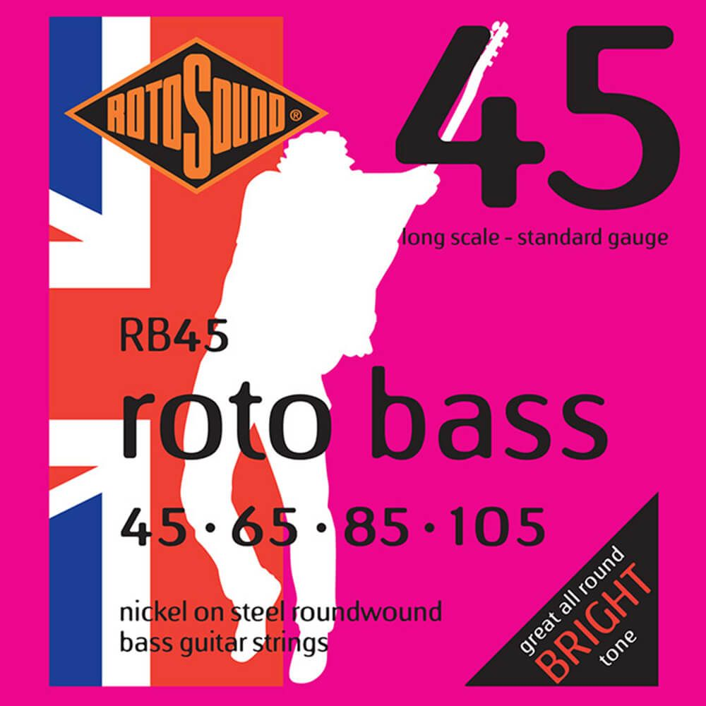 Rotosound RB45 Roto Bass 4-Strings, Nickel, 45-105