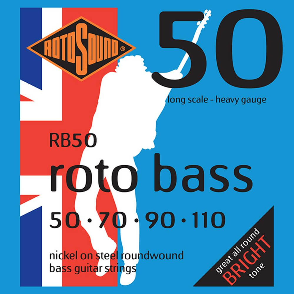 rotosound rb50 roto bass 4 strings nickel 50 110 rich tone music. Black Bedroom Furniture Sets. Home Design Ideas