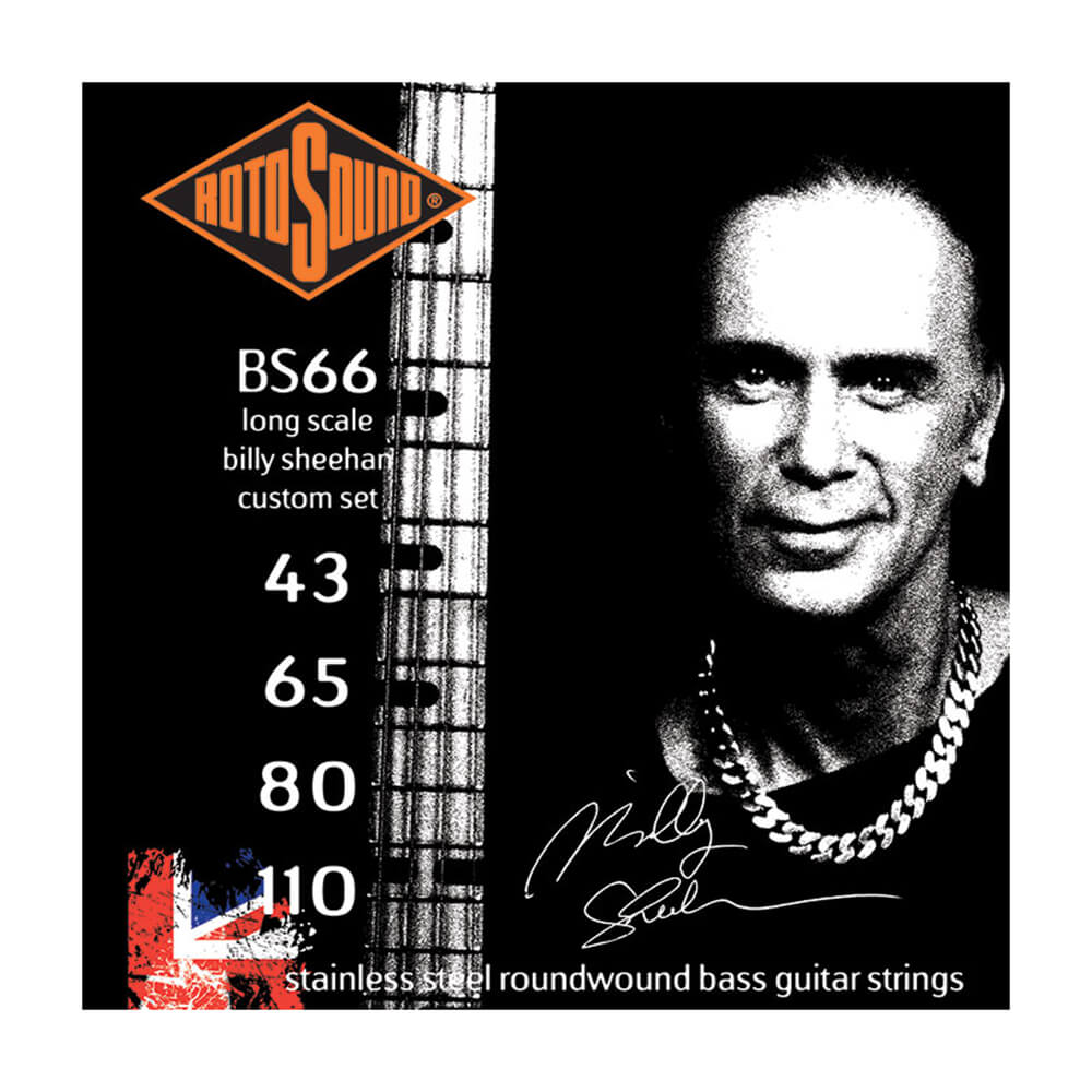 Rotosound BS66 Swing Bass 66 4-Strings, Stainless Steel, 43-110