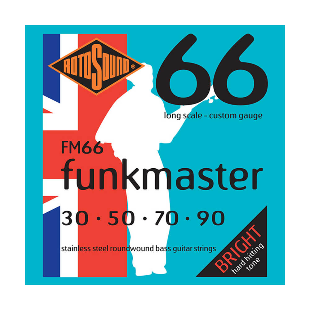 Rotosound FM66 Swing Bass 66 Funkmaster, Stainless Steel, 30-90