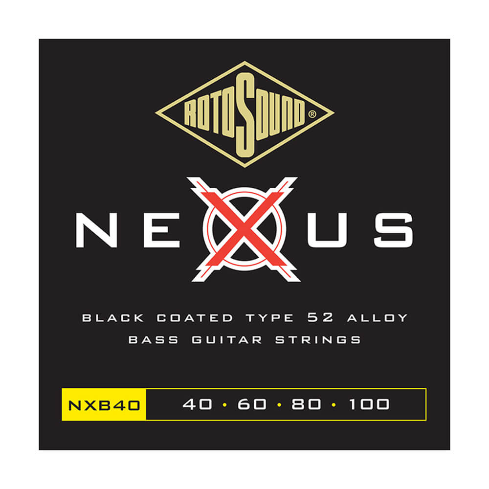 Rotosound NXB40 Nexus Bass 4 Strings, Coated Stainless Steel, 40-100