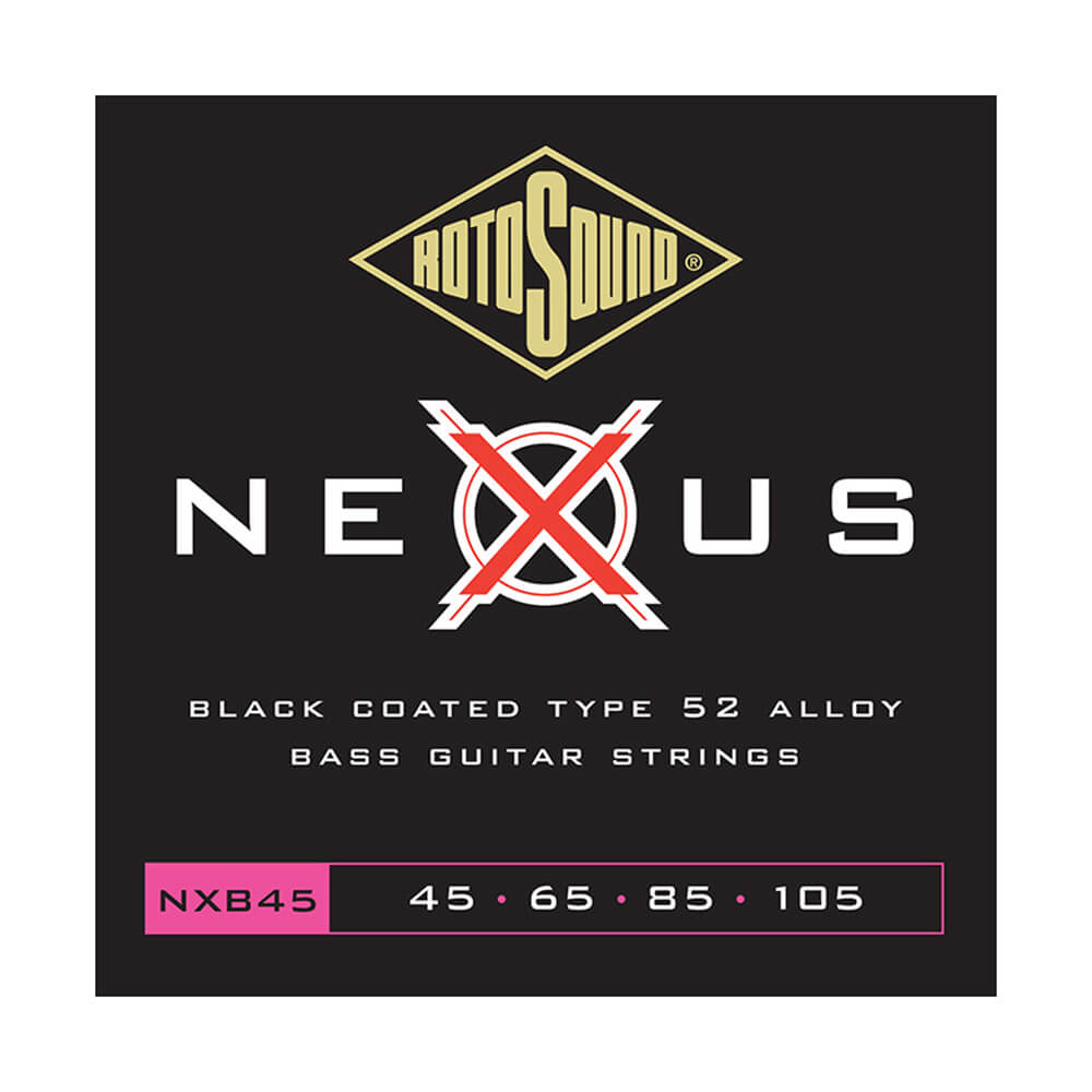 Rotosound NXB45 Nexus Bass 4 Strings, Coated Stainless Steel, 45-105