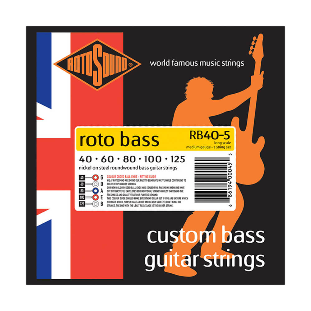 Nickel Rotosound RB40 Roto Bass 4-Strings 40-100