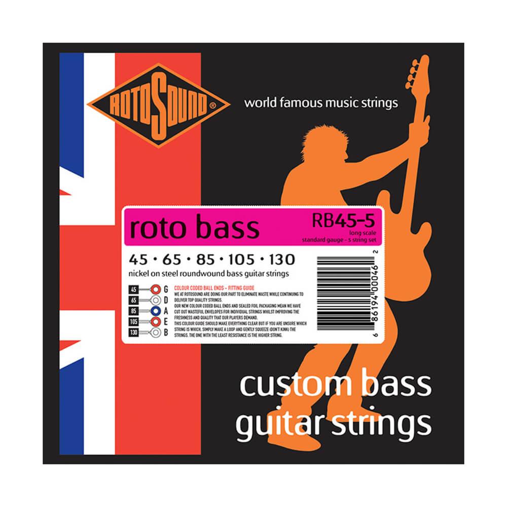 Rotosound RB45-5 Roto Bass 5-Strings, Nickel, 45-130