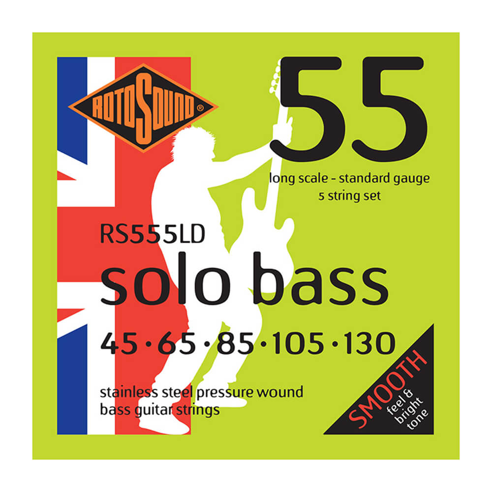 Rotosound RS555LD Solo Bass 55 Strings, 5-String, Long Scale, 45-130