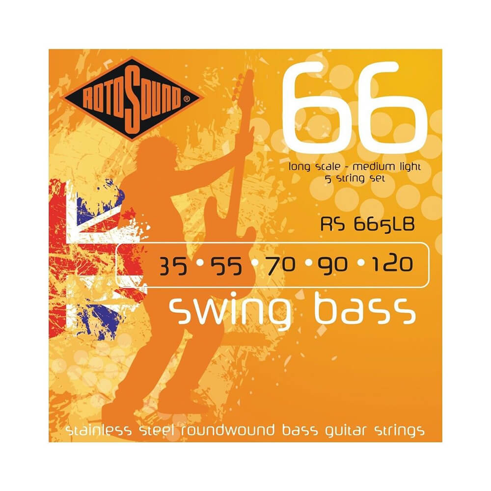 Rotosound RS665LB Swing Bass 66 5-Strings, Stainless Steel, 35-120