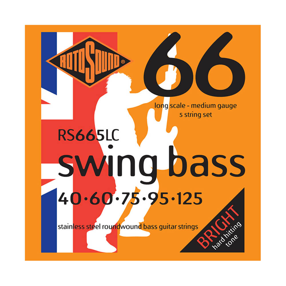 Rotosound RS665LC Swing Bass 66 5-Strings, Stainless Steel, 40-125