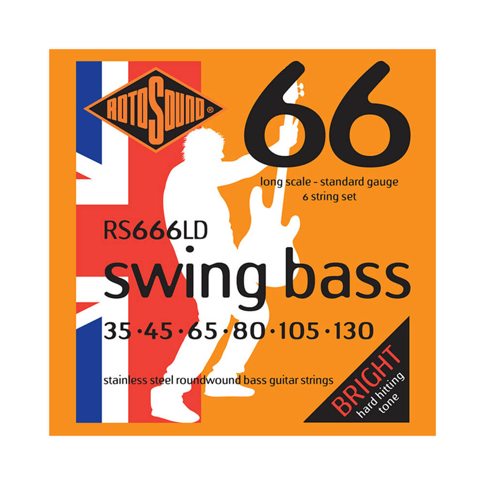 Rotosound RS666LD Swing Bass 66 6-Strings, Stainless Steel, 35-130