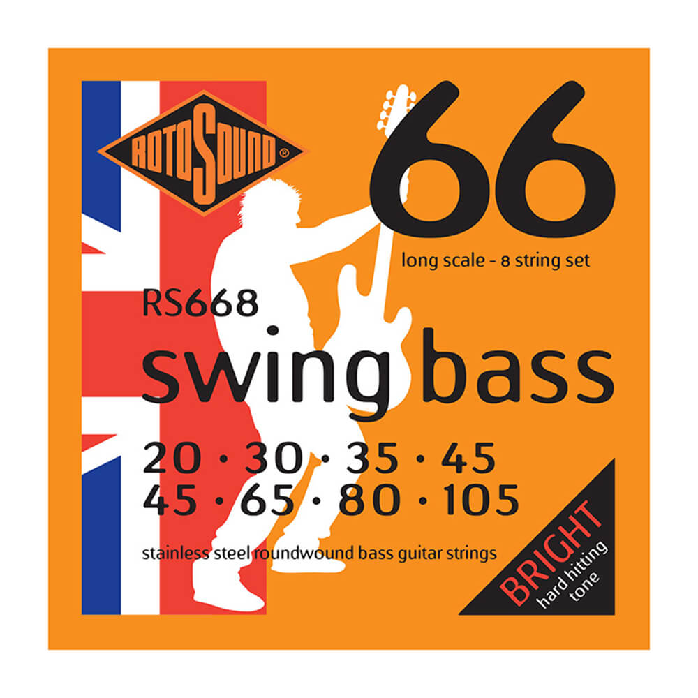 Rotosound RS668 Swing Bass 66 8-Strings, Stainless Steel, 20-105