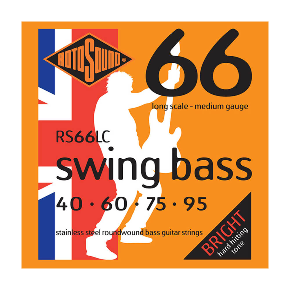 Rotosound RS66LC Swing Bass 66 4-Strings, Stainless Steel, 40-95