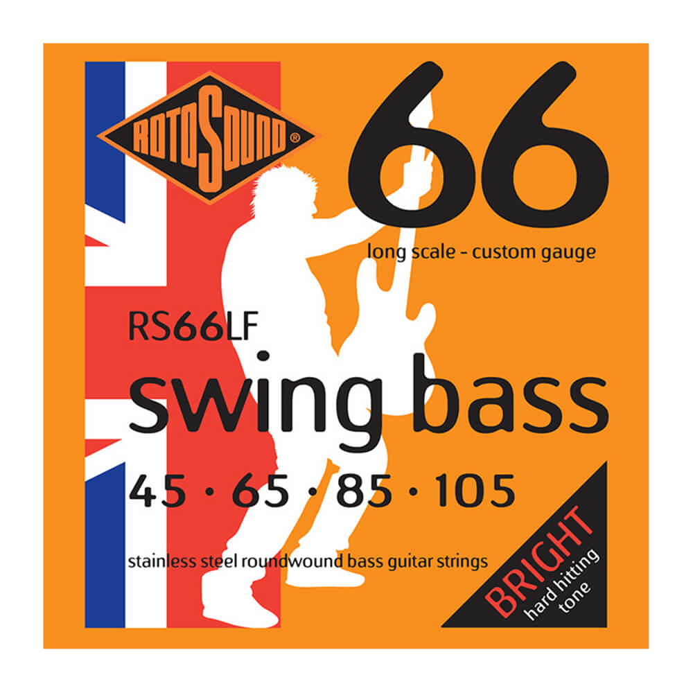Rotosound RS66LF Swing Bass 66 4-Strings, Stainless Steel, 45-105