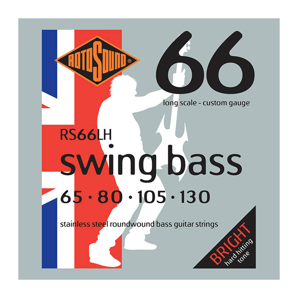 Rotosound RS66LH Swing Bass 66 Drop Zone, Stainless Steel, 65-130