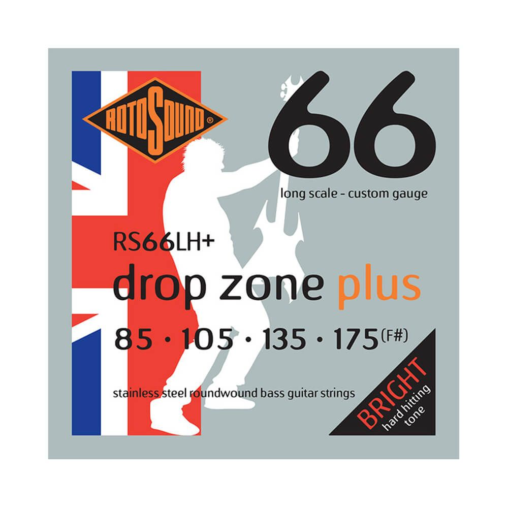 Rotosound RS66LH+ Swing Bass 66 Drop Zone Plus, Stainless Steel, 85-175