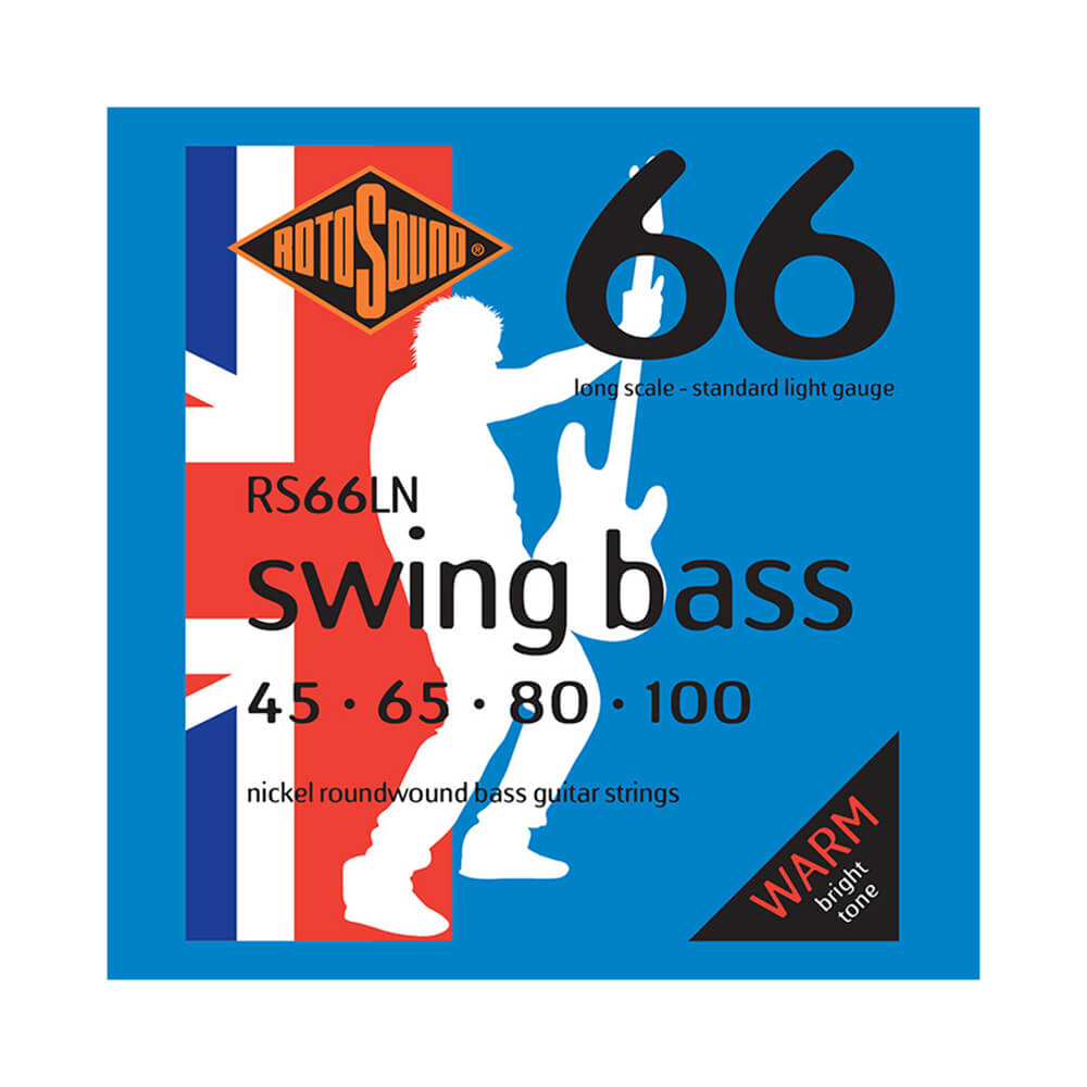 Rotosound RS66LN Swing Bass 66 4-Strings, Nickel, 45-100
