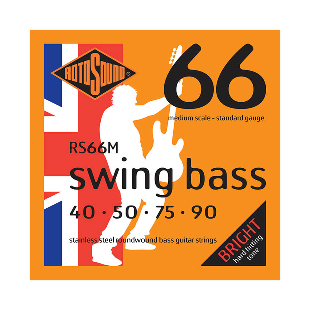 Rotosound RS66M Swing Bass 66 4-Strings, Stainless Steel, Medium Scale, 40-90