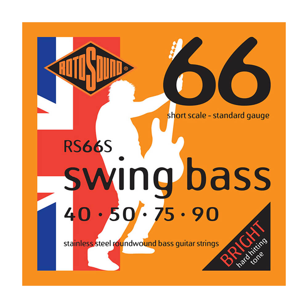Rotosound RS66S Swing Bass 66 4-Strings, Stainless Steel, Short Scale, 40-90