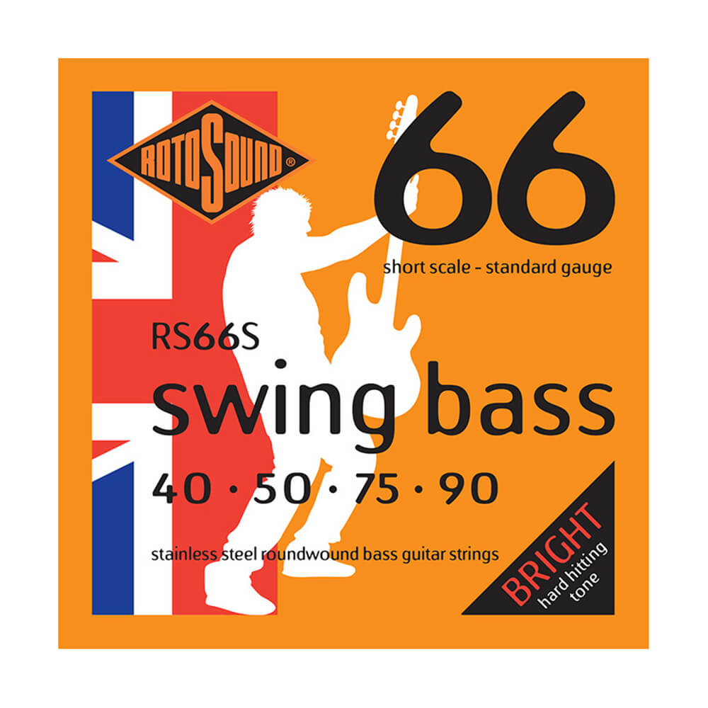 Rotosound RS77EL Jazz Bass 77 4-Strings, Monel Flatwound, X-Long Scale, 45-105