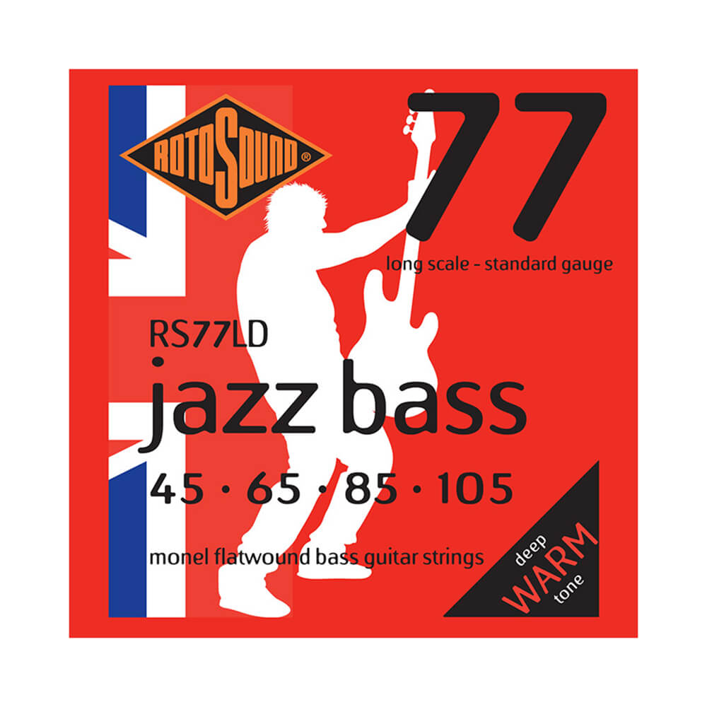 Rotosound RS77LD Jazz Bass 77 4-Strings, Monel Flatwound, 45-105