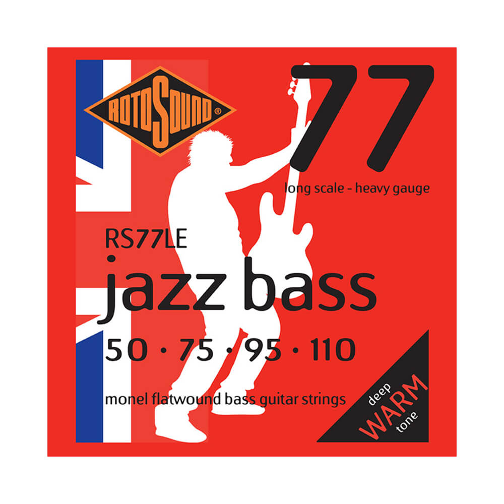 Rotosound RS77LE Jazz Bass 77 4-Strings, Monel Flatwound, 50-110