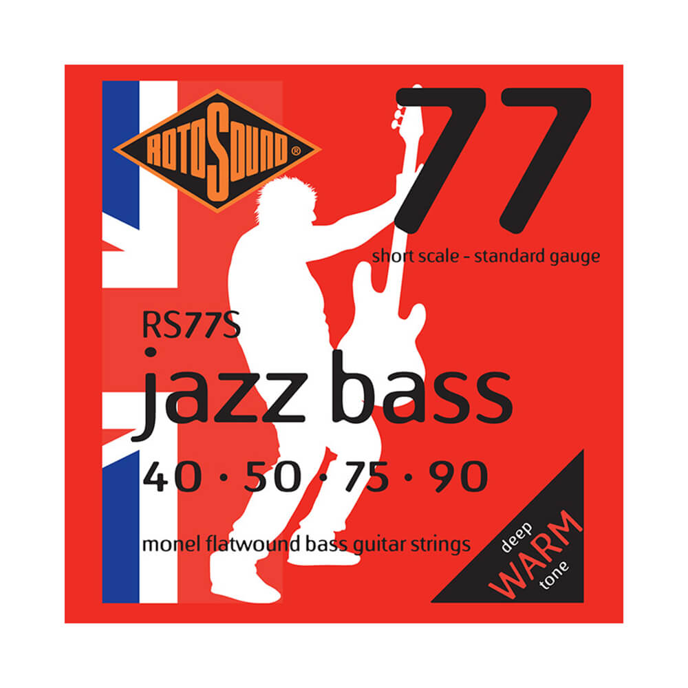 Rotosound RS77S Jazz Bass 77 4-Strings, Monel Flatwound, Short Scale, 40-90