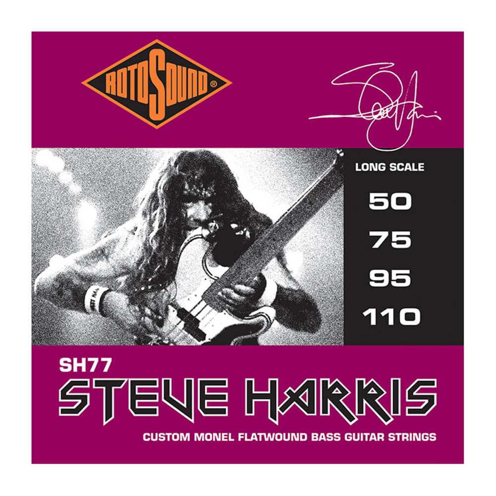 Rotosound SH77 Steve Harris Custom Flatwound, 50-110